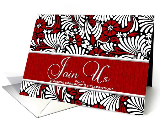 Business Blessing Ceremony Invitation Red and White card (820827)