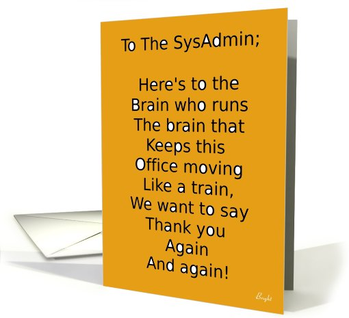 Happy System Administrator Appreciation Day! Card with... (645840)