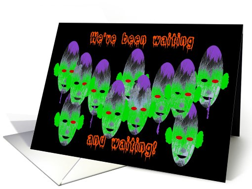 Invitation, Ghoulish Halloweed Party card (664903)