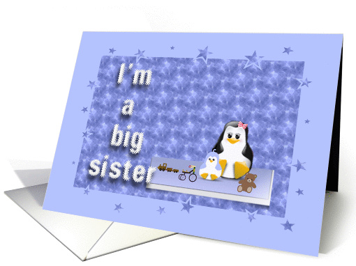 big sister to a baby brother card (749937)
