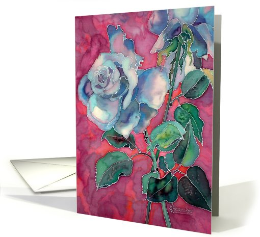 Blue Roses card (429807)