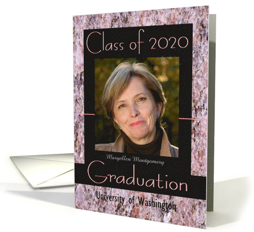 Graduation Announcement 2015 Pink Stone Photo card (598477)