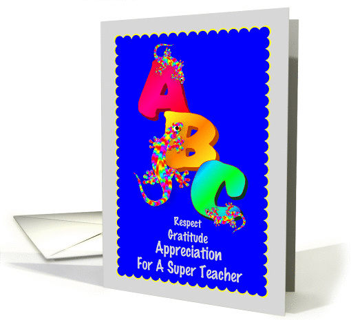 Thank You To School Principals, Teachers and Staff card (531809)
