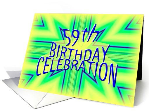 59th Birthday Party Invitation Bright Star card (630691)