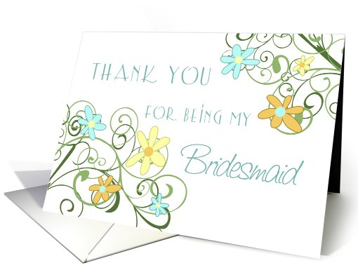 Garden Flowers Friend Thank You Bridesmaid card (602187)
