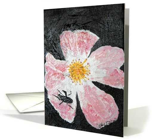 Bee on a flower card (443478)