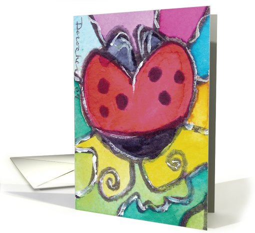 Lady bug Blank card (448381)