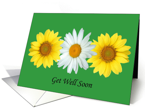 Pretty flowers - Get Well card (467569)