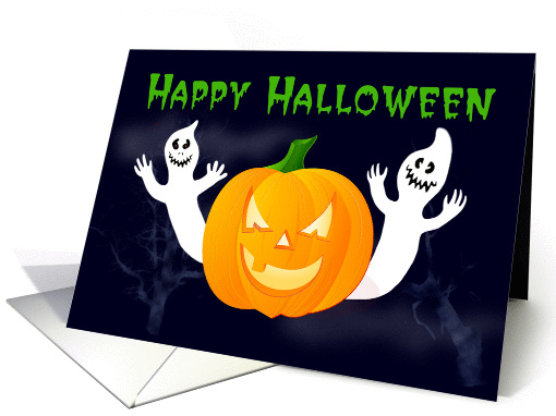 general Happy Halloween ghosts and pumpkin card (1150670)