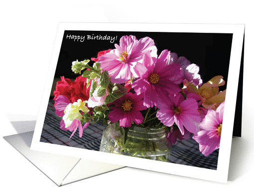 Birthday, for Volunteer, flowers card (886204)