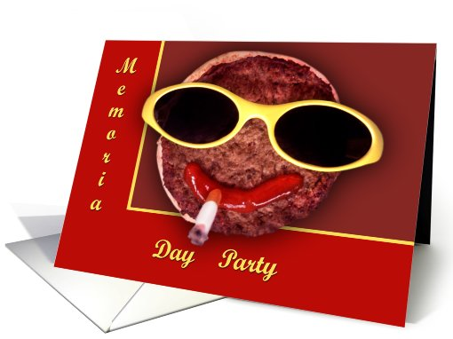 Cool Hamburger card (473030)