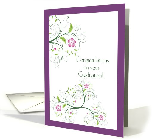 Graduation Congratulations, Her, Butterfly Swirls card (815470)