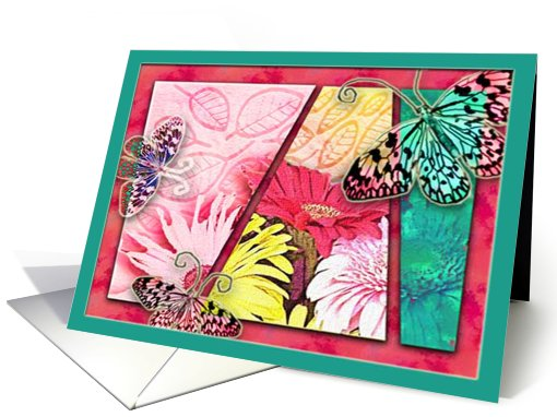 rainbow butterflies card (455284)
