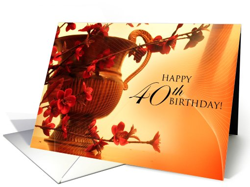 Happy 40th Birthday card (573440)