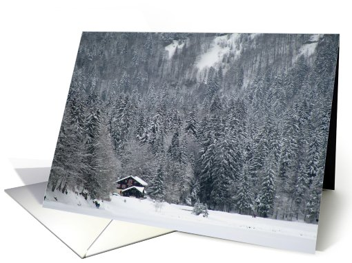 Chalet in the snow card (562994)
