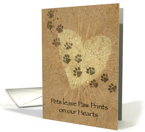 Paw Prints on our Hearts Pet Loss card (843753)