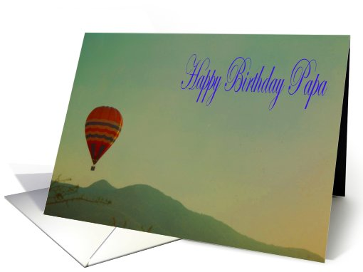 Papa Happy Birthday Hot Air Balloon card (670685)