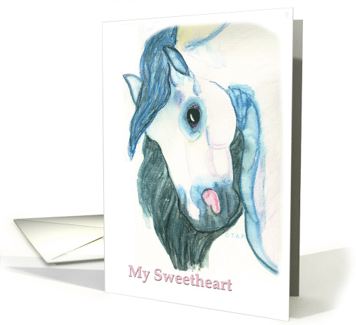 Andalusian Horse Head My Sweetheart Valentine card (518038)