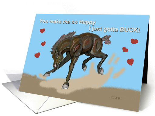 Bucking Hearts Valentine Foal for Friend card (554637)