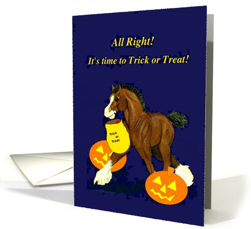 Halloween Clydesdale Horse card (696382)