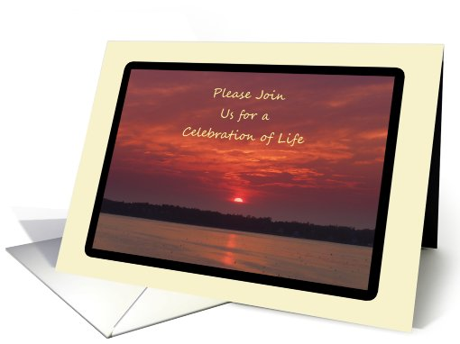 Celebration of Life Service Invitation with picture of... (660972)
