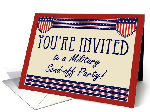 Military Send-off Party Invitations, Army Navy, Marine or... (681133)