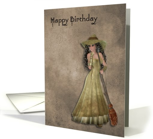 Witch Happy Birthday card (552090)
