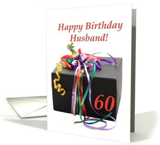 husband's 60th birthday, gift with ribbons card (669610)