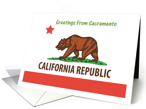 California - City of Sacramento - Flag - Souvenir card (552214)