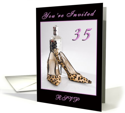 35th Birthday Party Invitation card (590413)