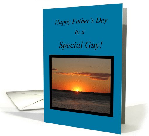 Boyfriend-Father's Day-Beautiful Golden Summer Sunset card (790964)