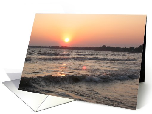 General Birthday-sunset on the water card (557994)