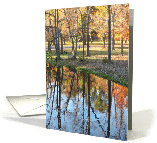 Happy Autumn/Birthday -Beautiful Fall Foliage Reflection card (703986)
