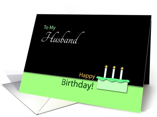 Happy Birthday�Husband�- Cake and Candles card (768388)