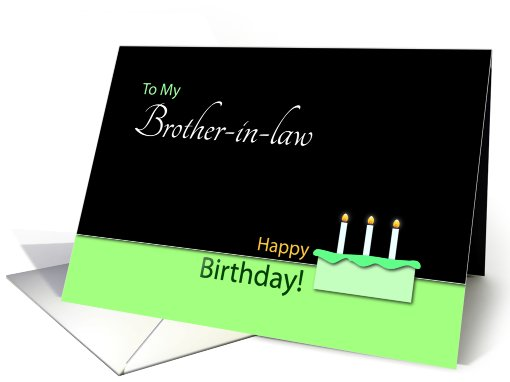 Happy Birthday�Brother-in-law�- Cake and Candles card (768554)