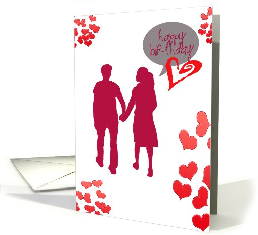 In love with you, Happy Birthday- girlfriend card (705060)