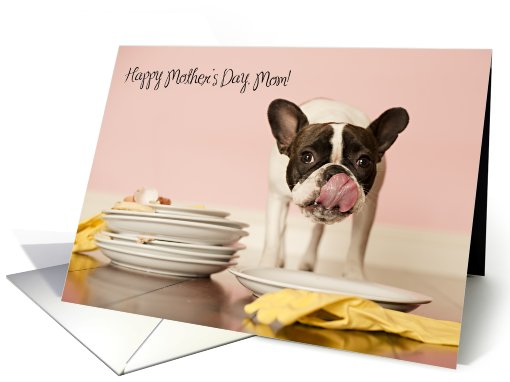 Funny French Bulldog Mother's Day card (799564)