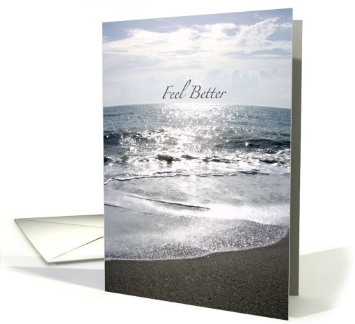 Feel Better / Get Well - Sparkling Sand and Ocean Waves -... (651422)