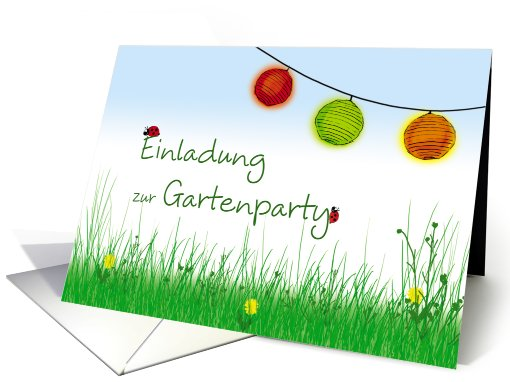 Einladung zur Gartenparty, German, Deutsch card (816111)