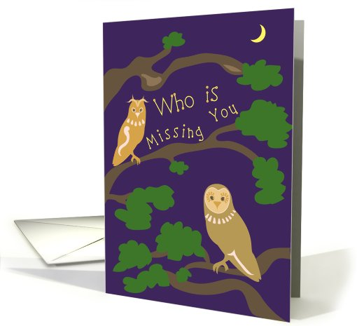 Owl - Summer Camp Missing You card (913512)