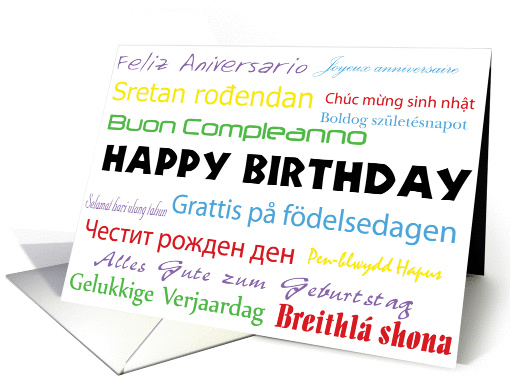 No Matter How You Say Birthday card (750172)