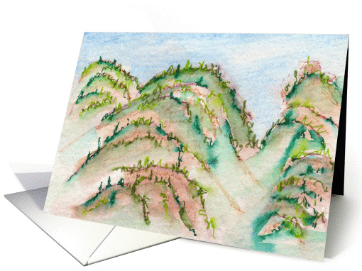 Dragon Mountain - Blank Note card (978237)