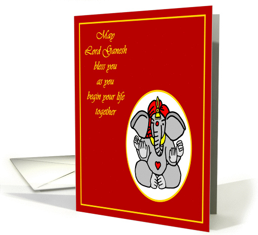 Hindu God Ganesh Wedding Congratulations card (945078)