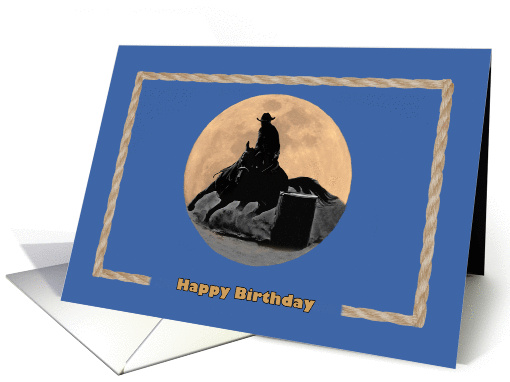 Happy Birthday, rodeo barrel racing card (825457)