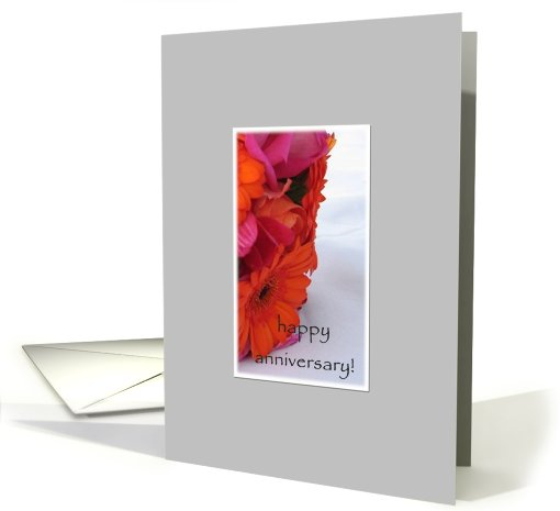 Abstract Flower Bouquet Happy Anniversary card (825263)