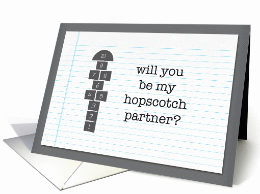 will you be my hopscotch partner valentine card (898673)