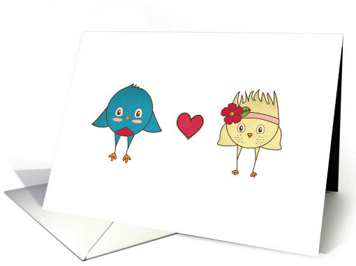 Lovebirds card (816236)