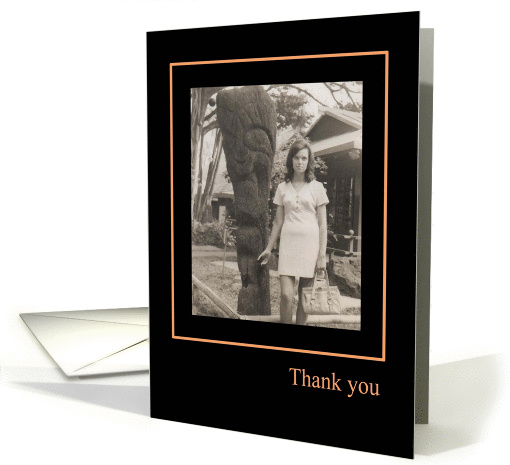 Thank You, Humorous, Goddess of Gratitude card (872870)