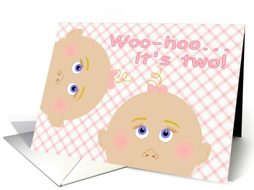 Baby Shower Congratulations for Twin Girls! card (822700)