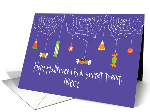 Halloween for Niece, Black Cat and Golden Goblin Mirror card (1245502)